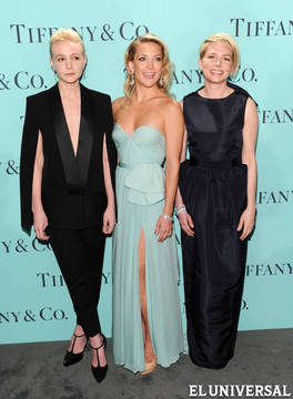Las actrices Carey Mulligan, Kate Hudson y Michelle Williams con joyas de la Blue Book Ball de Tiffany & Co. AP