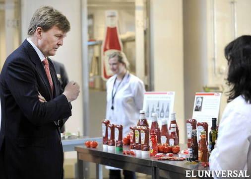 Guillermo Alejandro durante la inauguración del Centro Europeo de Innovación Heinz PIROSCHKA VAN DE WOUWEFE