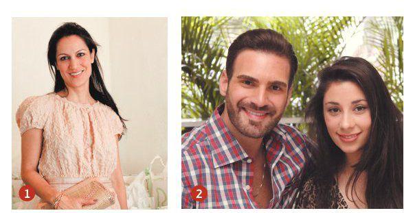 1 Yliana Yépez. 2 Harry Levy y Ela Ávalos