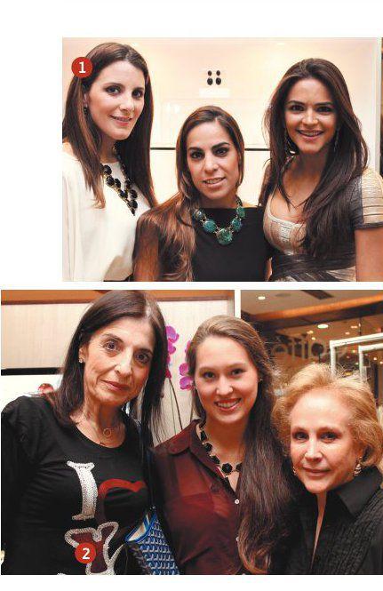 1 Beatriz Díaz, Patricia Pocaterra y Fabiana Dávila. 2 Clementina Mendoza, Andrea Rodríguez y Milagros de Rodríguez.