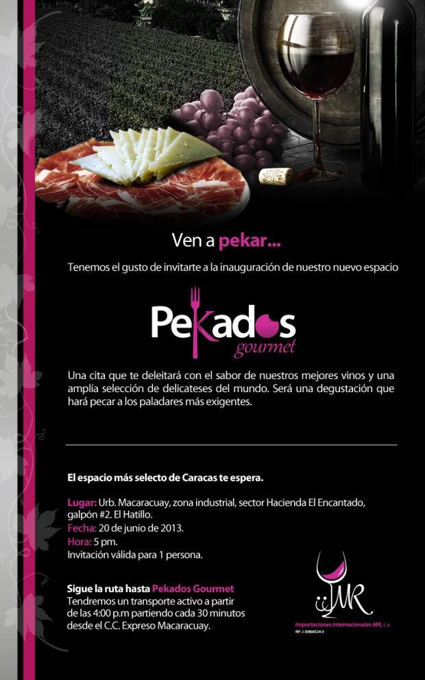Invitación Pekados Gourmet 1 persona